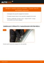 Avtomehanična priporočil za zamenjavo TOYOTA Toyota Yaris p1 1.4 D-4D (NLP10_) Glavni zaromet