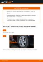 Como mudar tirante da barra estabilizadora da parte dianteira em Opel Astra H sedan - guia de substituição
