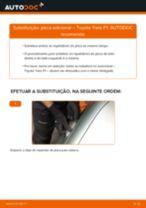 Como mudar pisca adicional em Toyota Yaris P1 - guia de substituição