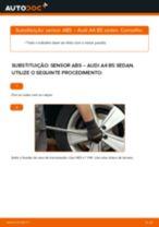 Como mudar sensor ABS da parte dianteira em Audi A4 B5 sedan - guia de substituição