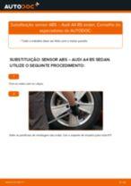 Como mudar sensor ABS da parte traseira em Audi A4 B5 sedan - guia de substituição