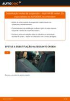 Como mudar molas de suspensão da parte traseira em Audi A4 B5 sedan - guia de substituição