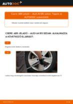 AUDI A4 Kerékfordulatszám jeladó cseréje: kézikönyv online
