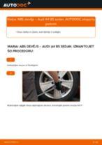 Kustības dinamikas regulēšana nomaiņa AUDI A4: tiešsaistes pamācības