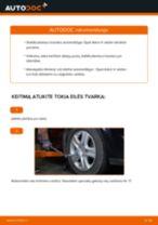 Kaip pakeisti gale dešinė Pasukimo trauklė OPEL ASTRA H Saloon (L69) - instrukcijos internetinės