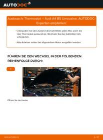 Wie der Wechsel durchführt wird: Thermostat 1.6 Audi A4 B5 tauschen