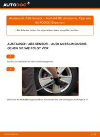 Wie der Wechsel durchführt wird: ABS Sensor 1.6 Audi A4 B5 tauschen