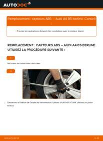 Comment effectuer un remplacement de Capteur ABS sur 1.6 Audi A4 B5