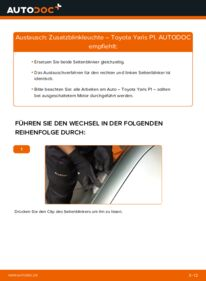Wie der Wechsel durchführt wird: Blinker 1.0 (SCP10_) Toyota Yaris P1 tauschen