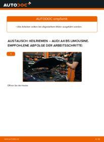 Wie der Wechsel durchführt wird: Keilrippenriemen 1.6 Audi A4 B5 tauschen