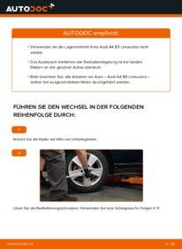Wie der Wechsel durchführt wird: Radlager 1.6 Audi A4 B5 tauschen