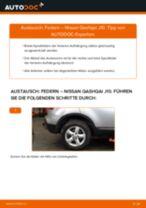 NISSAN QASHQAI / QASHQAI +2 (J10, JJ10) Federn: Schrittweises Handbuch im PDF-Format zum Wechsel