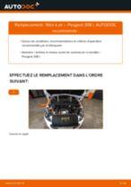 Filtre à air PEUGEOT 308 I 3/5 portes (4A_, 4C_) | PDF tutoriel de remplacement