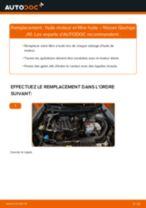 PDF manuel de remplacement: Filtre à huile NISSAN Qashqai / Qashqai +2 I (J10, NJ10)