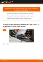 Cambiare Filtro Olio VW CADDY: manuale tecnico d'officina