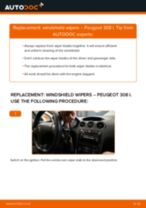 Replacing Window wipers PEUGEOT 308: free pdf