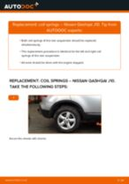 How to change rear coil springs on Nissan Qashqai J10 – replacement guide