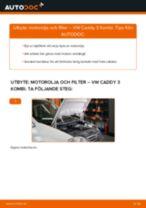 Byta motorolja och filter på VW Caddy 3 Kombi – utbytesguide