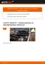Byta tändstift på Nissan Qashqai J10 – utbytesguide
