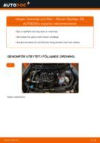 Byta motorolja och filter på Nissan Qashqai J10 – utbytesguide