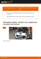 PDF handleiding voor vervanging: Ontstekingsspoel PEUGEOT 308 I Hatchback (4A_, 4C_)