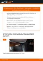 Changement Filtre d'Habitacle VW CADDY III Estate (2KB, 2KJ, 2CB, 2CJ) : guide pdf