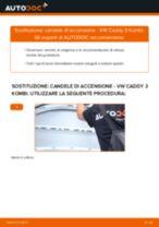 PDF manuale di sostituzione: Candele motore VW Caddy III Station Wagon (2KB, 2KJ, 2CB, 2CJ)