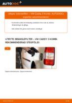 Byta bränslefilter på VW Caddy 3 Kombi – utbytesguide
