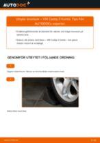Byta bromsok fram på VW Caddy 3 Kombi – utbytesguide