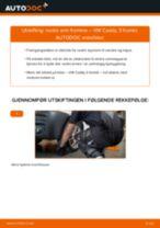 Veiledning på nettet for å skifte Styrearm i VW CADDY III Estate (2KB, 2KJ, 2CB, 2CJ) selv