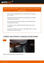 Ako vymeniť filter vnútorného priestoru na VW Caddy 3 Kombi – návod na výmenu