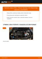 PDF návod na výmenu: Olejový filter NISSAN Qashqai / Qashqai +2 I (J10, NJ10)