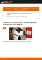 Jak vyměnit a regulovat Brzdové obloženie VW CADDY: průvodce pdf