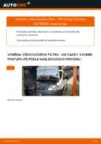 Jak vyměnit vzduchový filtr na VW Caddy 3 Kombi – návod k výměně