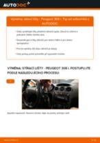 Návodý na opravu a údržbu Peugeot 308 CC