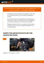 Αλλαγή Ψαλίδια VW CADDY: εγχειριδιο χρησης