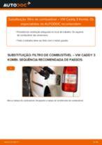 Como mudar filtro de combustível em VW Caddy 3 Kombi - guia de substituição