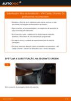 Como mudar filtro habitáculo em VW Caddy 3 Kombi - guia de substituição