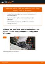 Как се сменя масло и маслен филтър на VW Caddy 3 Kombi – Ръководство за смяна