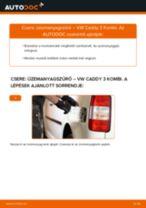 Lépésről-lépésre PDF-útmutató - Mazda 5 cr19 Fékbetét csere