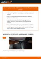 Pollenszűrő-csere VW Caddy 3 Kombi gépkocsin – Útmutató