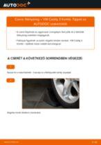 Elülső féknyereg-csere VW Caddy 3 Kombi gépkocsin – Útmutató