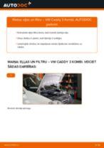 VW CADDY Eļļas filtrs nomaiņa: rokasgrāmata