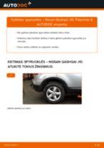 Žingsnis po žingsnio pakeiskite NISSAN QASHQAI / QASHQAI +2 (J10, JJ10) Spyruoklės PDF vadovas