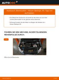 Wie der Wechsel durchführt wird: Bremssattel 1.5 dCi Nissan Qashqai j10 tauschen