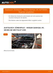 Wie der Wechsel durchführt wird: Zündspule 1.5 dCi Nissan Qashqai j10 tauschen