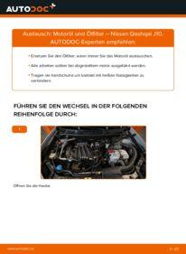 Wie der Wechsel durchführt wird: Ölfilter 1.5 dCi Nissan Qashqai j10 tauschen