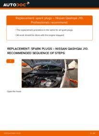 How to carry out replacement: Spark Plug on 1.5 dCi Nissan Qashqai j10