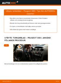 Så byter du Torkarblad på 1.6 HDi Peugeot 308 I