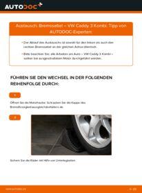 Wie der Wechsel durchführt wird: Bremssattel 1.9 TDI Caddy 3 tauschen